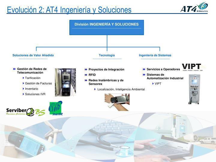 Evolución 2: AT4 Ingeniería y Soluciones