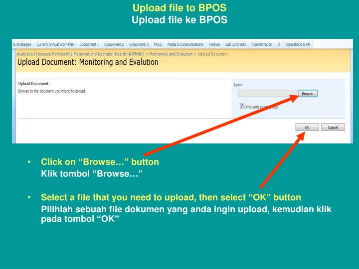 Upload file to BPOS