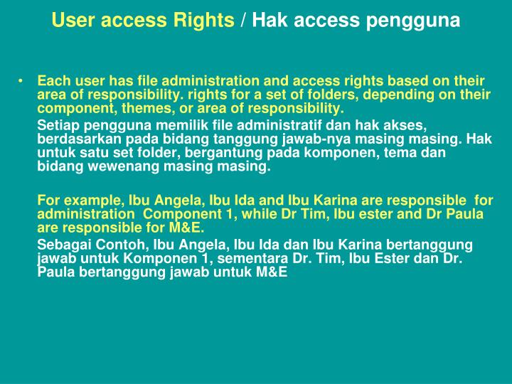 User access Rights