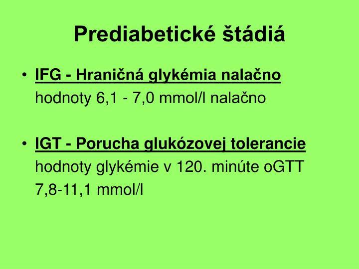 Prediabetické štádiá