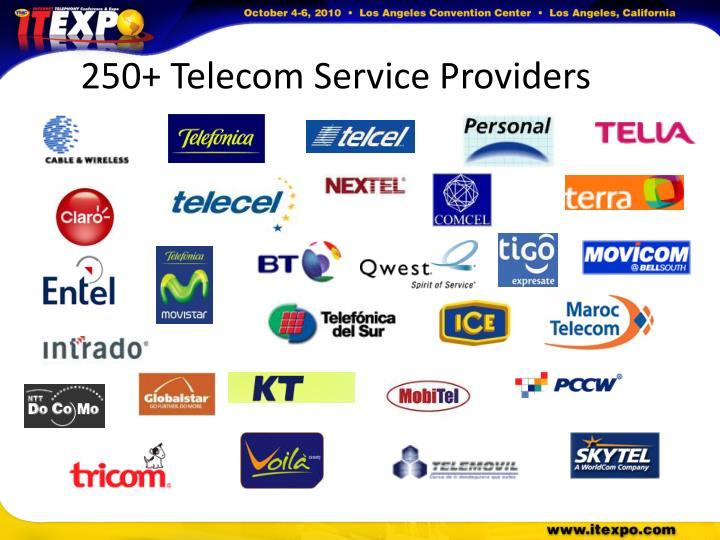 250+ Telecom Service Providers