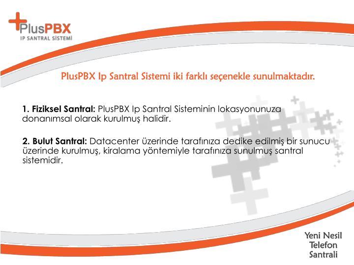 PlusPBX Ip Santral Sistemi iki farklı seçenekle sunulmaktadır.