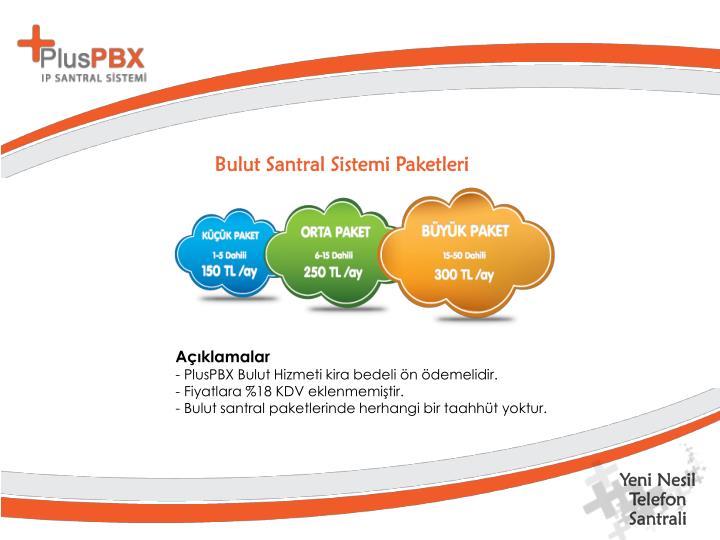 Bulut Santral Sistemi Paketleri