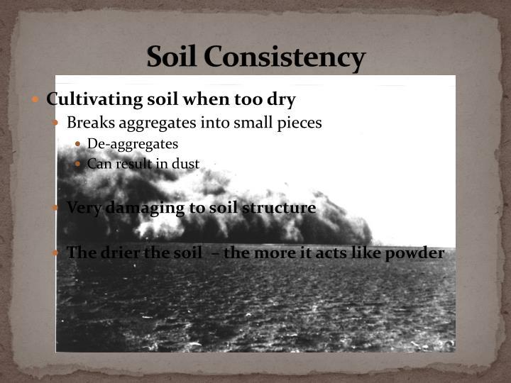 Soil Consistency