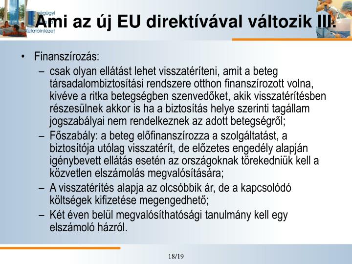 Ami az új EU direktívával változik III.