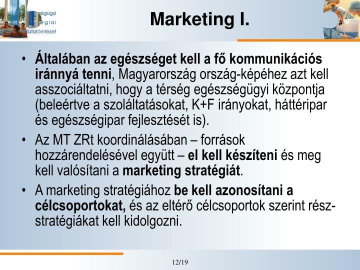 Marketing I.