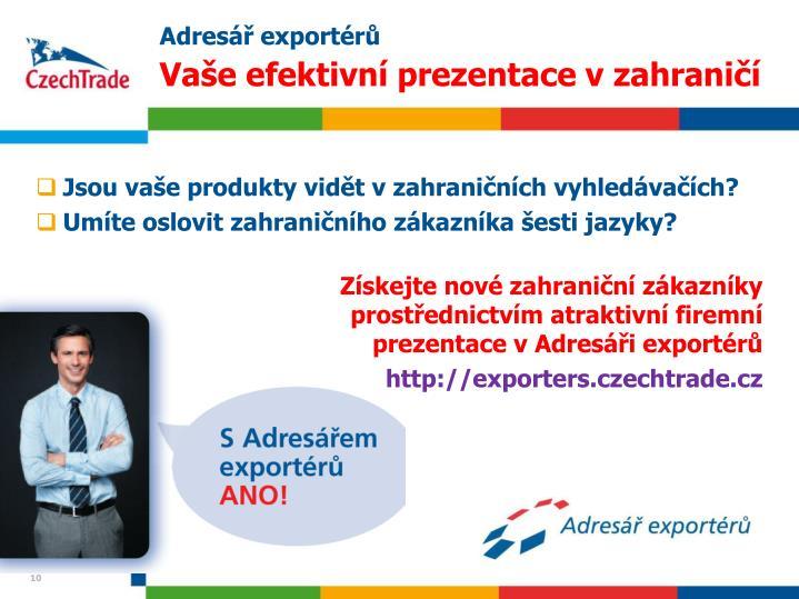 Adresář exportérů
