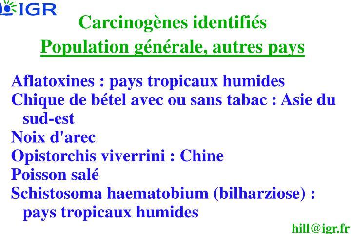 Carcinogènes identifiés