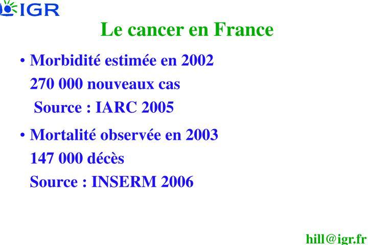 Le cancer en France