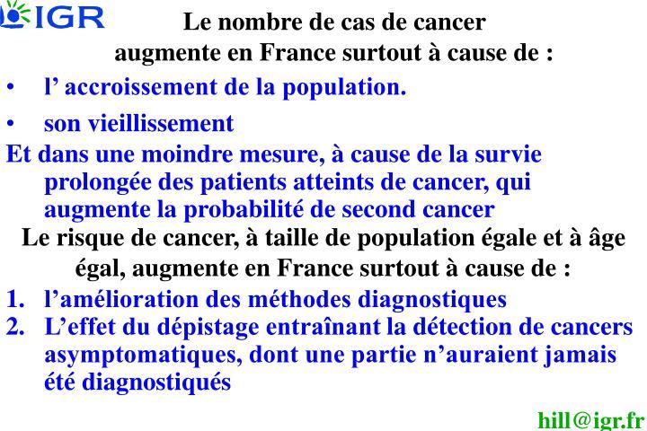 Le nombre de cas de cancer