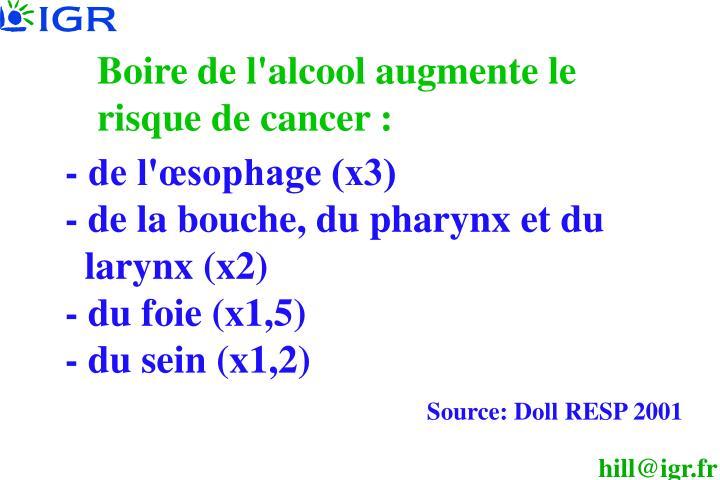 - de l'œsophage (x3)