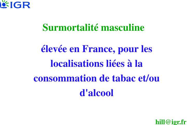 Surmortalité masculine