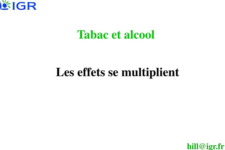 Tabac et alcool