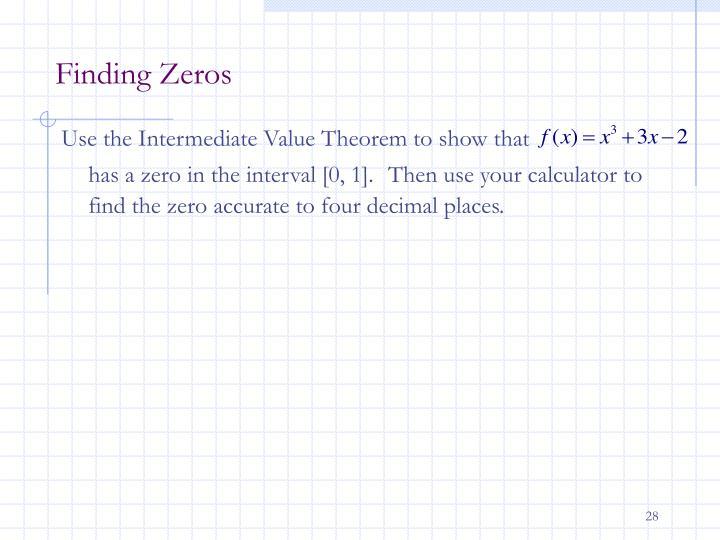 Finding Zeros