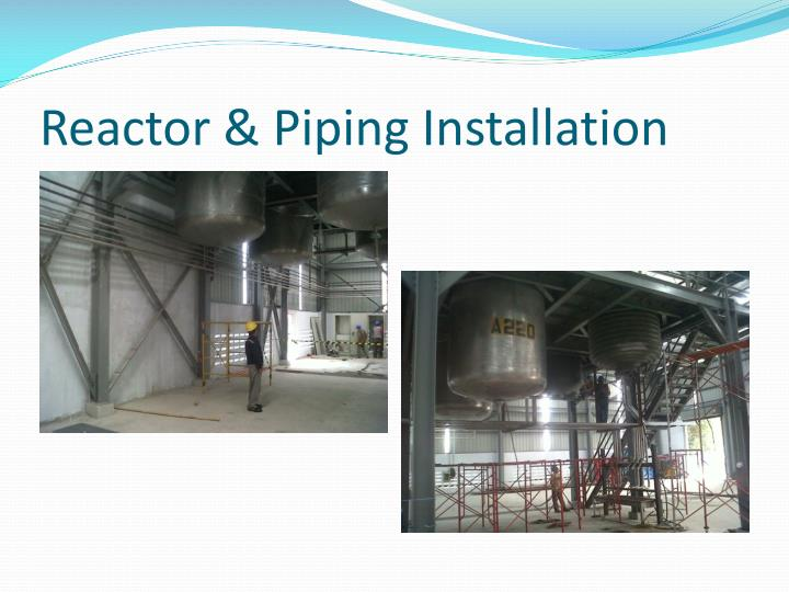 Reactor & Piping Installation