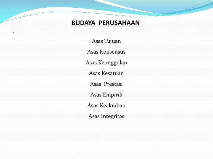 BUDAYA  PERUSAHAAN