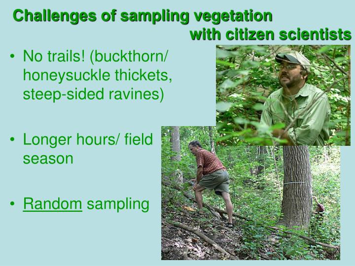 Challenges of sampling vegetation