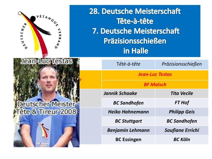28. Deutsche Meisterschaft