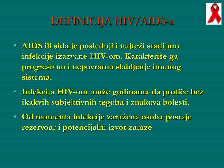 DEFINICIJA HIV/AIDS-a