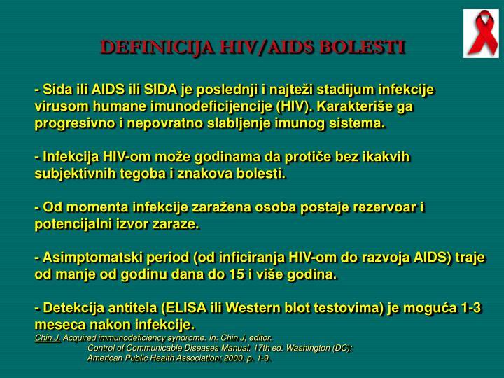 DEFINICIJA HIV/AIDS BOLESTI