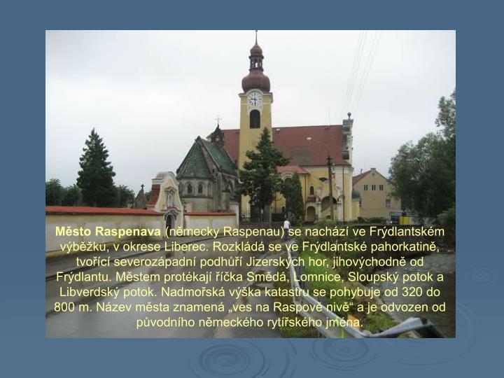 Město Raspenava