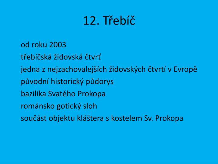 12. Třebíč