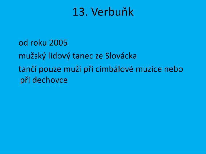 13. Verbuňk