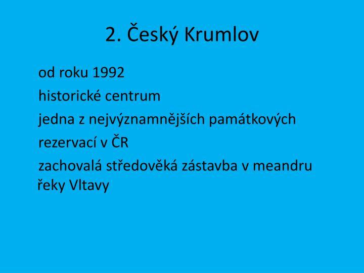 2. Český Krumlov