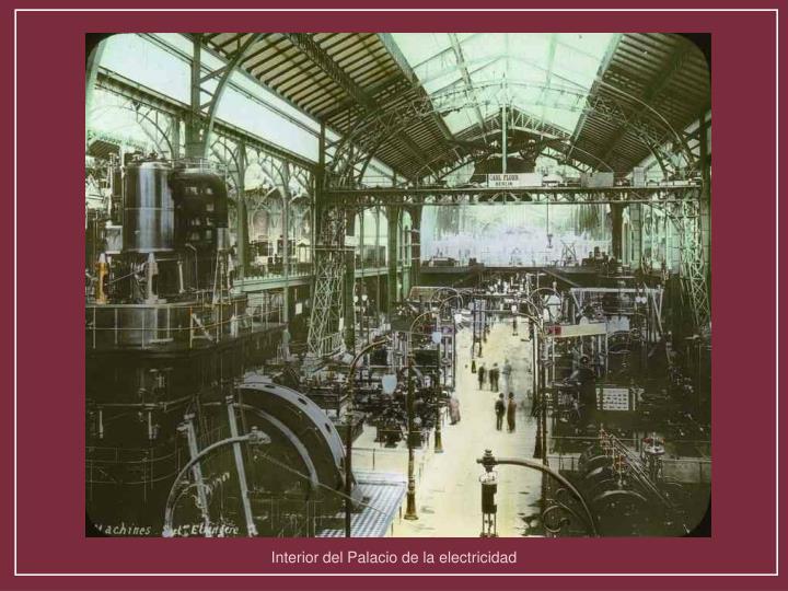 Interior del Palacio de la electricidad