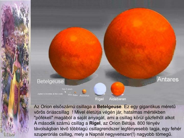 Az Orion elsőszámú csillaga a