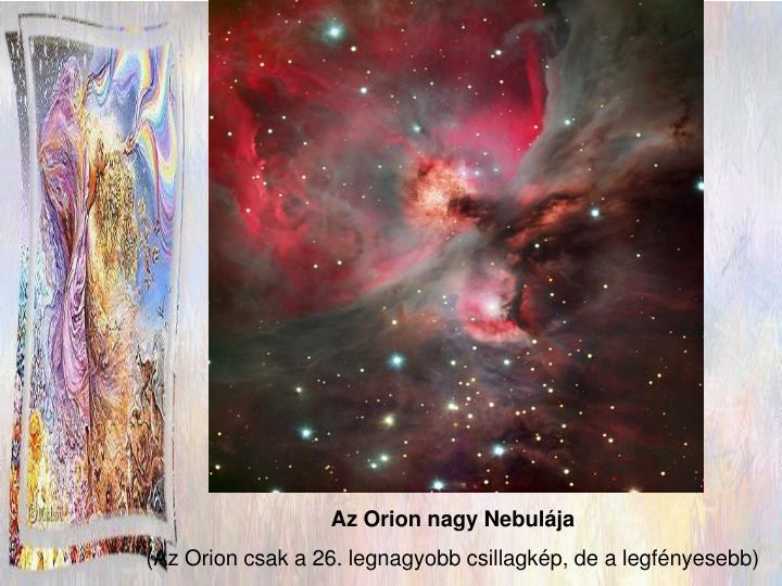 Az Orion nagy Nebulája