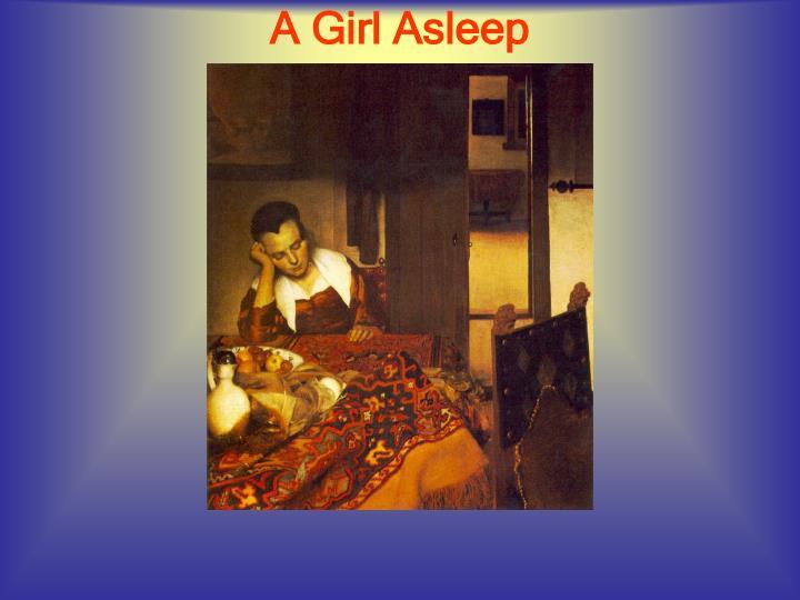 A Girl Asleep