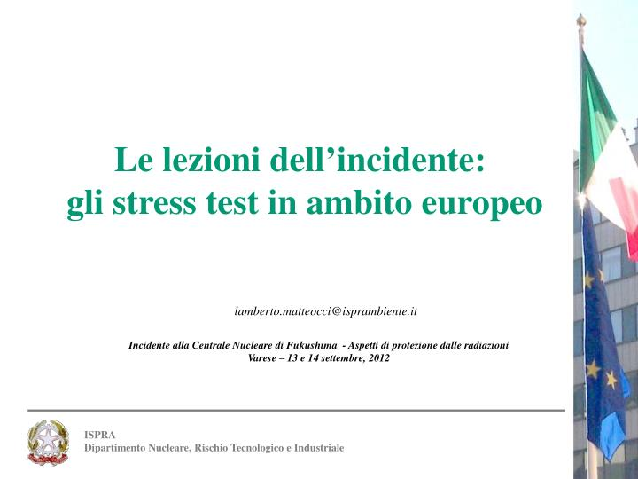 Le lezioni dell'incidente: