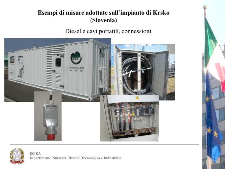 Esempi di misure adottate sull'impianto di Krsko (Slovenia)