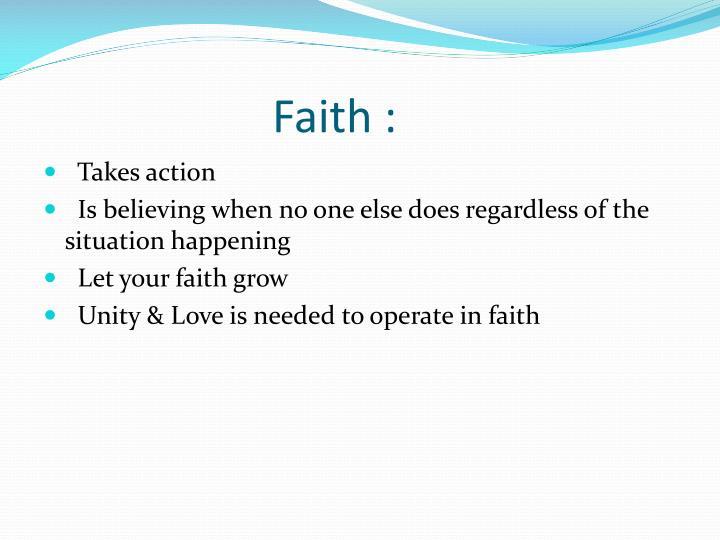 Faith :