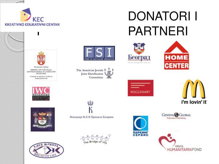 DONATORI I                            I                          PARTNERI