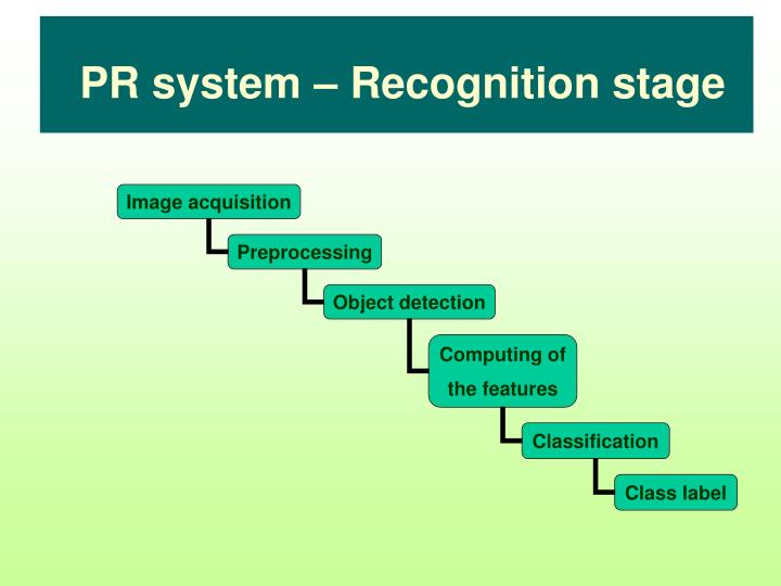PR system – Recognition stage