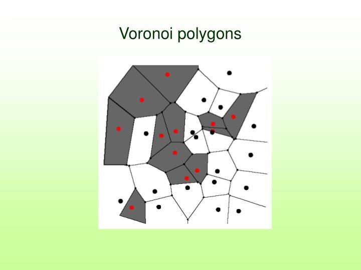 Voronoi polygons