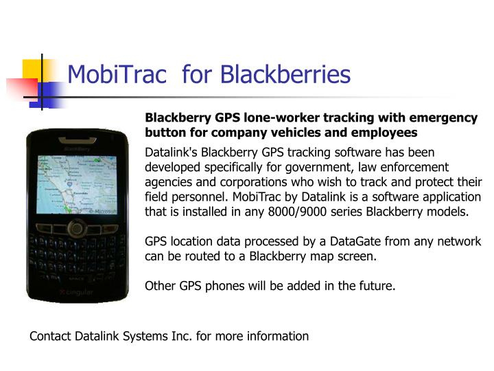 MobiTrac  for Blackberries