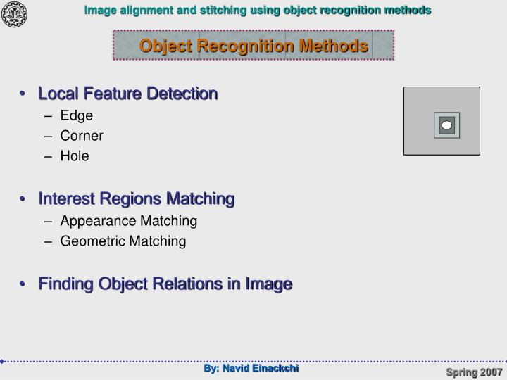 Object Recognition Methods