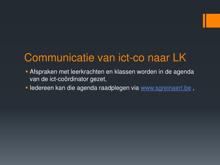 Communicatie van