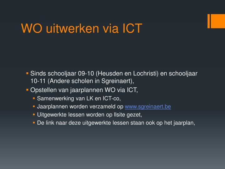 WO uitwerken via ICT