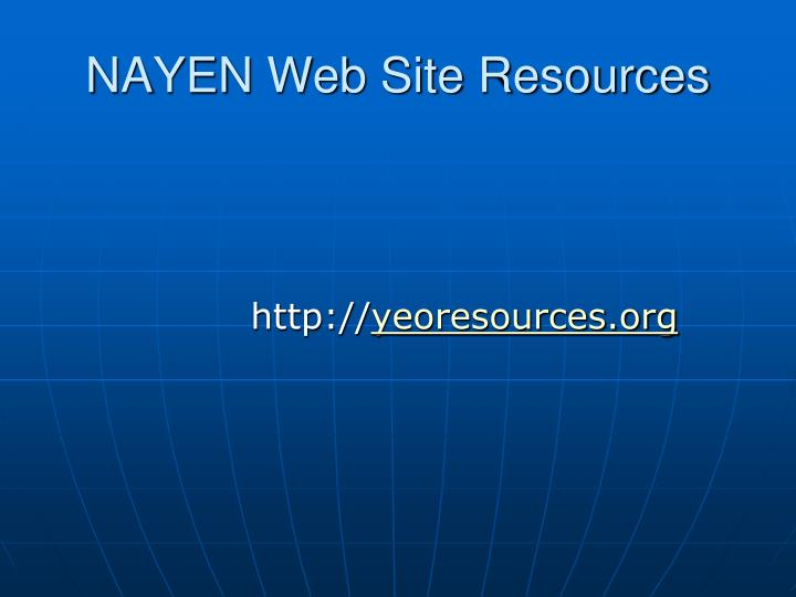 NAYEN Web Site Resources
