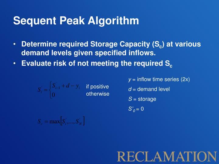 Sequent Peak Algorithm