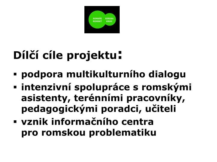 Dílčí cíle projektu