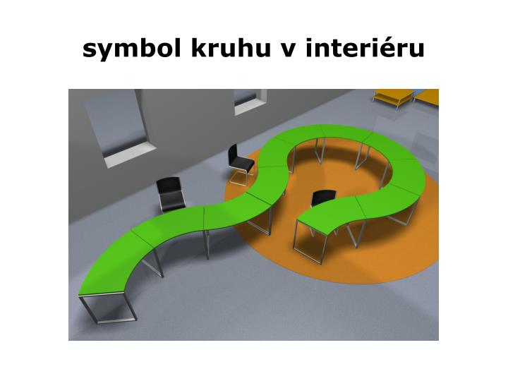symbol kruhu v interiéru