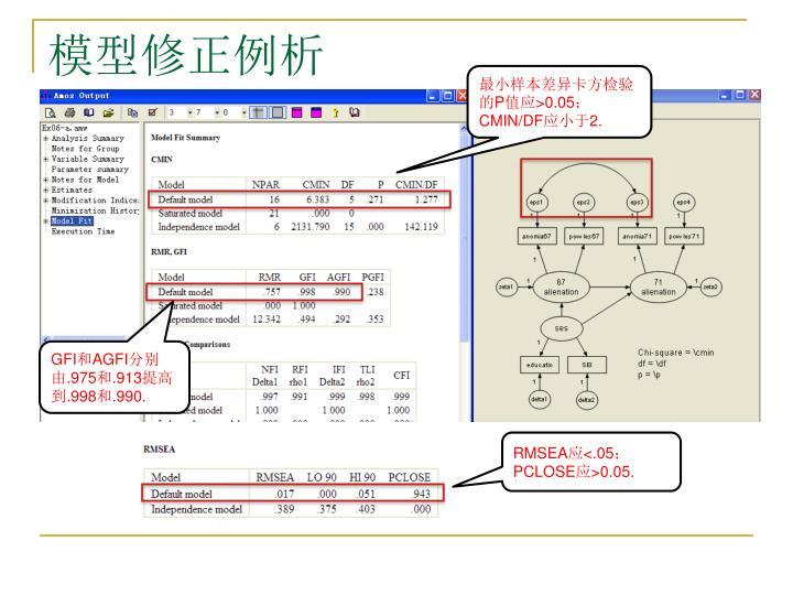 模型修正例析