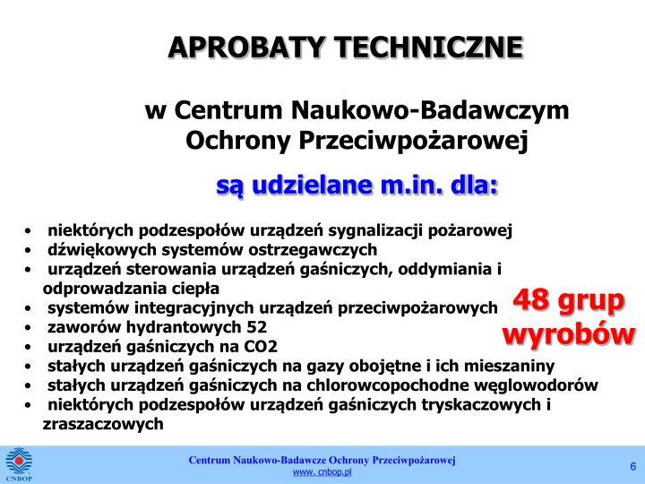 APROBATY TECHNICZNE