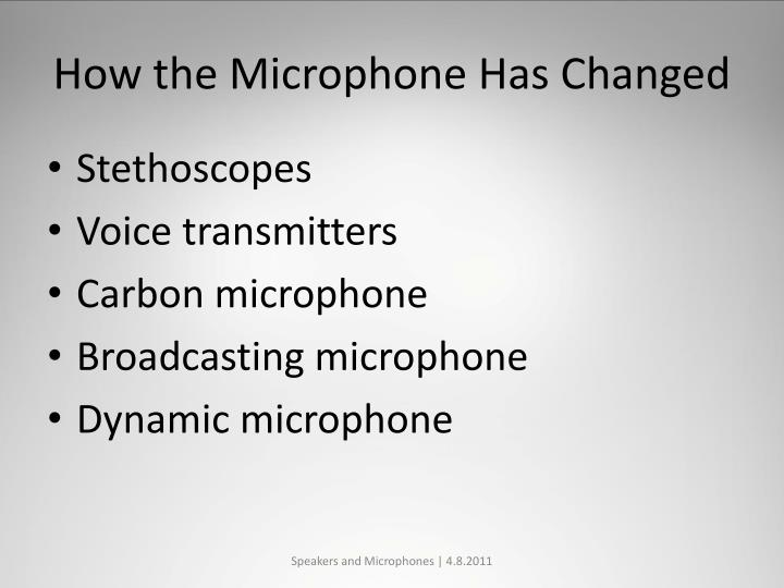 How the Microphone Has Changed