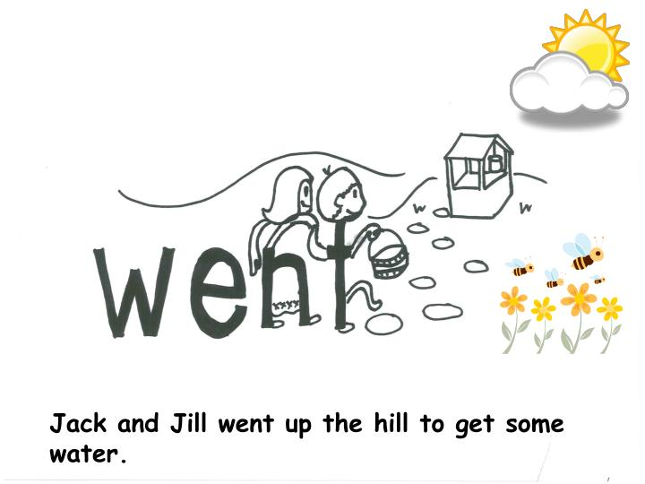 Jack and Jill went up the hill to get some water.